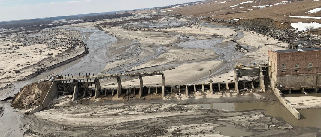 Damage to Spencer Dam and extensive river debris in northern Nebraska as tweeted by Nebraska Governor Pete Ricketts on March 16, 2019.