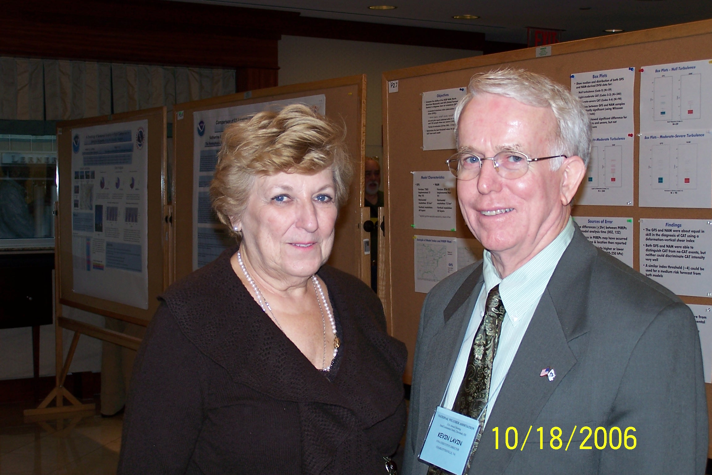 Carol Lavin with her husband, former NWA Executive Director Kevin Lavin.